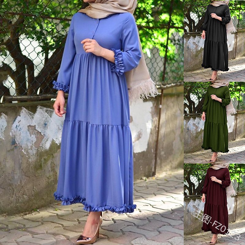 Ramadan Eid Mubarak Abaya Turkey Muslim Hijab Dress Kaftan Dubai Caftan Turkish Islamic Clothing African Dresses For Women Robe