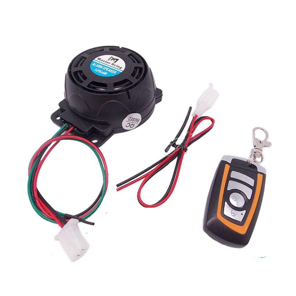 Universal Mini Motorcycle Alarm 125dB Remote Control Anti-theft Speakers For Harley Touring Sportster Kawasaki Z750  Z800 Z1000