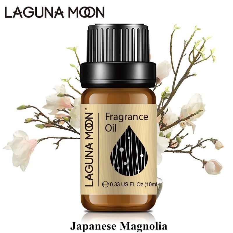 Lagunamoon  Japanese Magnolia 10ml Fragrance Oil Orange Blossom Peach Passion Fruit Pineapple Plant Oil Aromatherapy Diffusers