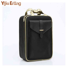New Fashion Trend Cosmetic Case Storage Bag Large Capacity Beautician Multi-layer Toolbox Makeup Travel Portable Cosmetic Bag цена и фото