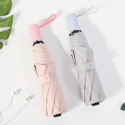 Proste wszystko w każdych warunkach pogodowych Parasol podwójny cel jednolity kolor trzy składane parasole winylu odporny na słońce Parasol konfigurowalny Adv na
