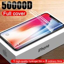 Protetor de tela da capa completa 50000d para o iphone 11 pro xs max x xr hydrogel filme iphone 12 pro max mini protetor de tela sem vidro