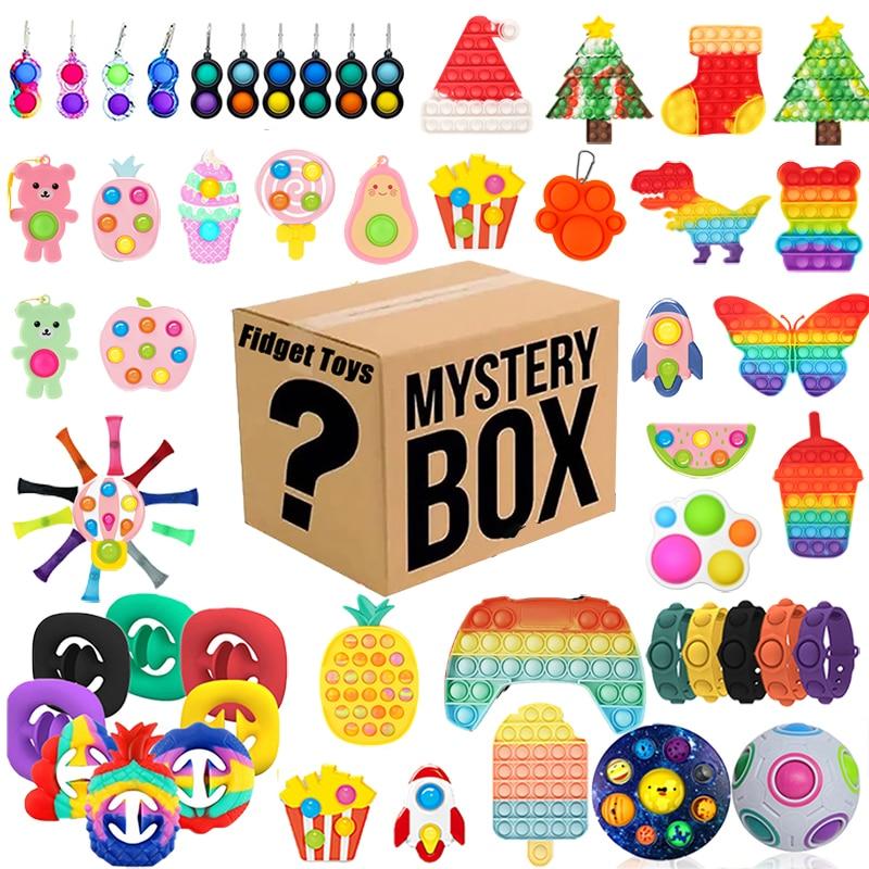 1-4pcs Random Fidget Toys Mystery Gifts Pack Surprise Box 300 Different Fidget Set Antistress Relief Toys for Children Adults