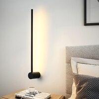 Moderna Lampada Da Parete A LED Lungo Appendere Le Luci Semplice Nordic Soggiorno Divano Sfondo Della Parete Luce Da Comodino Camera Da Letto Lampada Da Terra