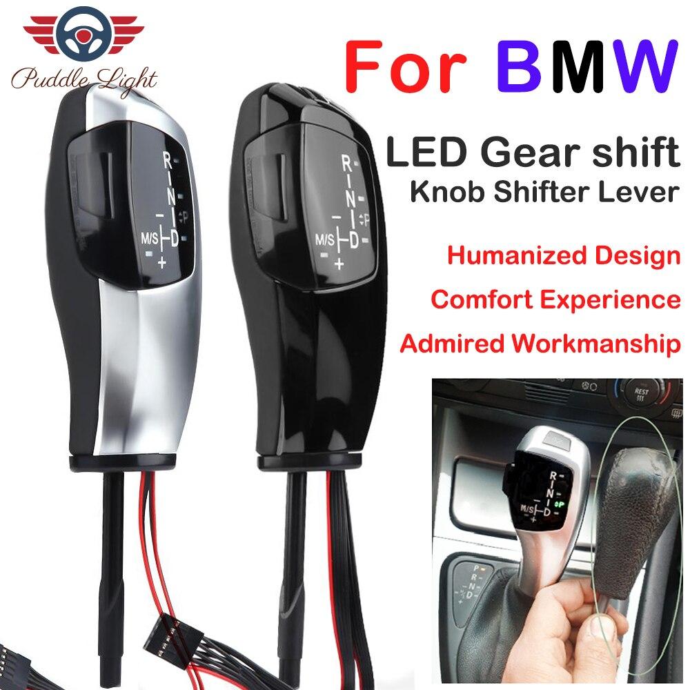 Auto Auto Cambio Manuale Pomello del cambio Leva Del Cambio del Bastone LED LHD Automatica Del Cambio Pomello per BMW E46 E39 E53 e60 E61 E87 E90 E92 E93