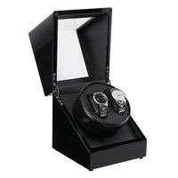 Watch Winder Box Rotatable Base Quiet Self-Winding Automatic Mechanical Watches Holder Storage Container Organizer Case Gift