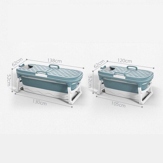 1.38m Large Bathtub Adult Children's Folding Tub Massage Adult Bath Barrel Steaming Dual-use Baby Tub Home Spa Home Sauna 2size 5