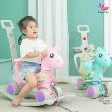 Ride-Toy Rocking-Chair Horse-Stroller Toddler Playroom Kids Nursery Shining Children