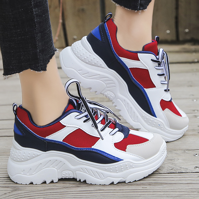 2020 Platform Sneakers Fashion Women Vulcanize Shoes Chunky Sneakers Women Shoes Women Flats Sneakers Shoes Women Casual Shoes