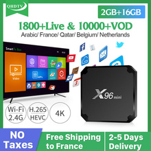 IPTV Arabic France X96 MINI TV Box Android 7.1 Smart QHDTV Abonnement Channels Spain Belgium Dutch French