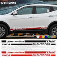 1 Pair Vinyl Door Side Stripe Car Styling For Hyundai Santa Fe Exterior Accessories Santafe DM Automobiles Car Stickers Decals
