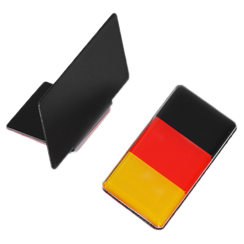 1pc German Flag Grille Emblem Badge <font><b>For</b></font> Volkswagen Scirocco <font><b>GOLF</b></font> 7 <font><b>Golf</b></font> <font><b>6</b></font> Polo <font><b>GTI</b></font> <font><b>VW</b></font> Tiguan <font><b>for</b></font> Audi A4 A6 Car <font><b>Accessories</b></font> image