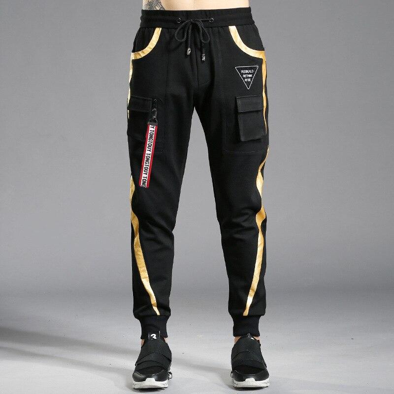 Brand Men Pants Hip Hop Harem Pants 2019 Spring Autumn Male Trousers Mens Joggers Pencil Pants Multi-pocket Sweatpants