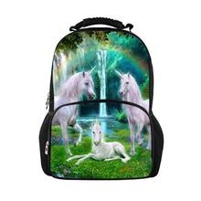HaoYun Fashion Childrens Backpacks Cute Horses Prints Pattern Kids School Book Bags Kawaii Teenagers Girls Large Backpack