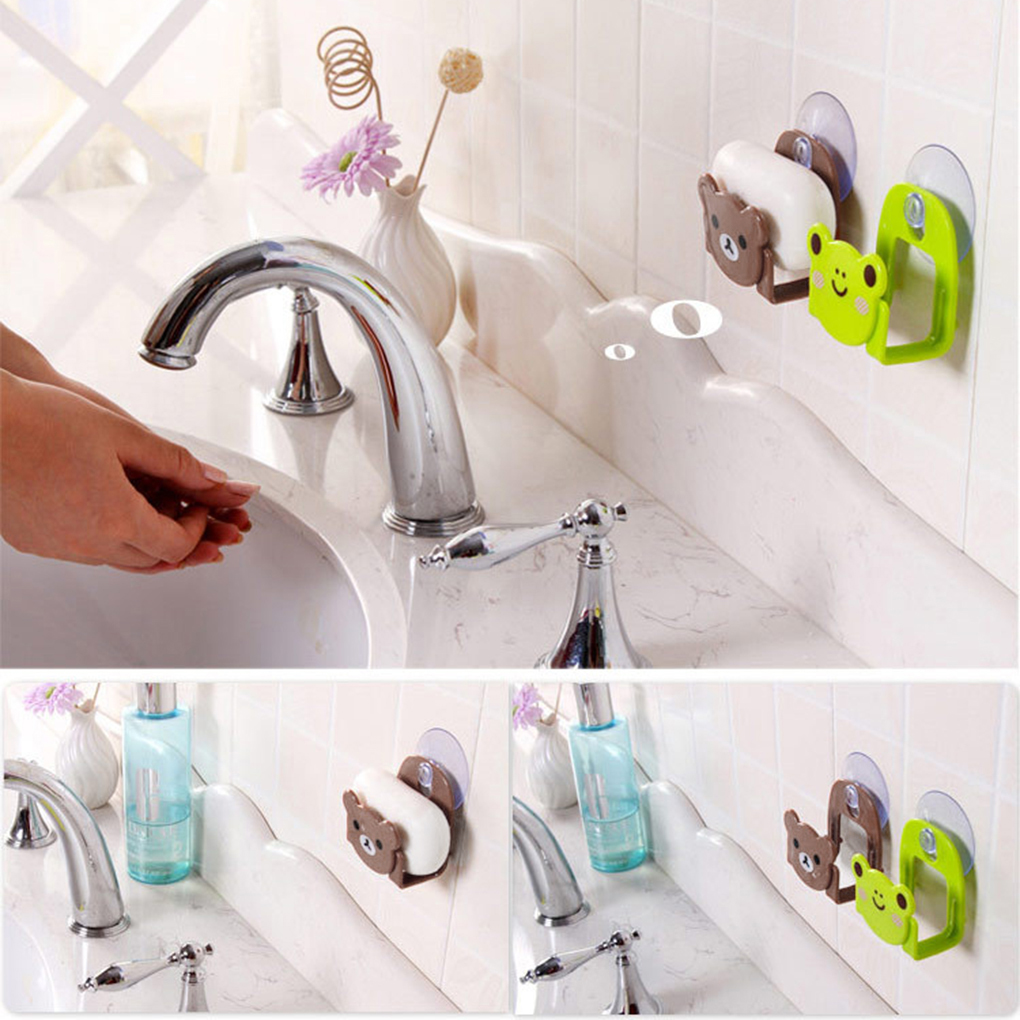 Sucking Disc Sponge Rag Storage Rack Bathroom Supplies Sundries Racks Kitchen Accessories Sink Storage Holders Wall-mounted