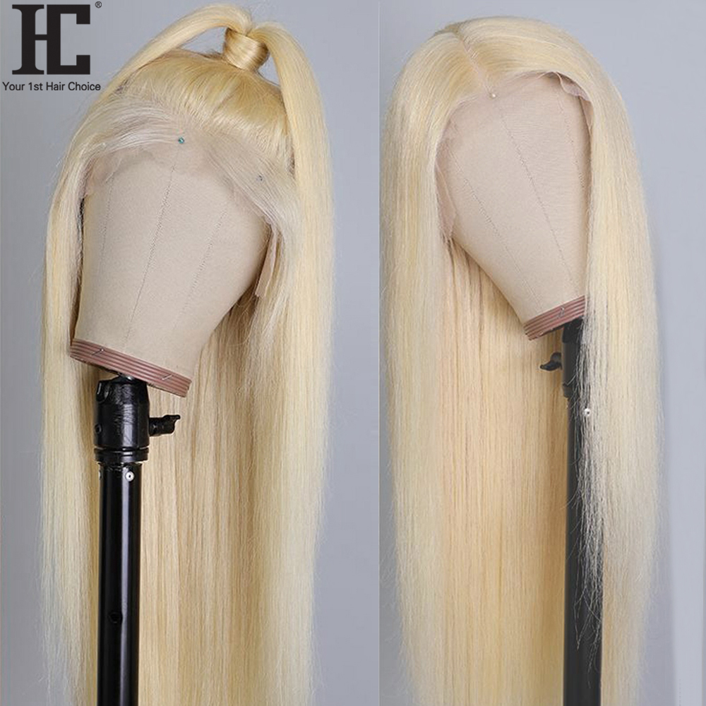 30 дюймов средняя часть бесклеевого 613 блондинка синтетические волосы парик человеческих волос парики 13x1 бразильские прямые волосы 613 круже...