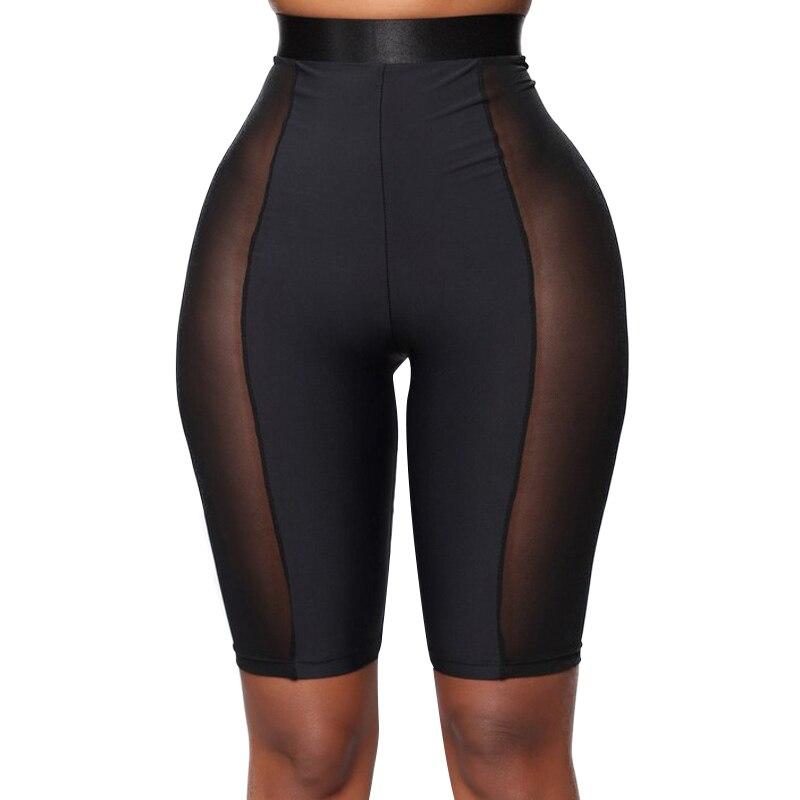 Summer Shorts Women Straight Slim Elastic Waist High Waist Shorts Short Feminino Five Short Sport Biker Shorts