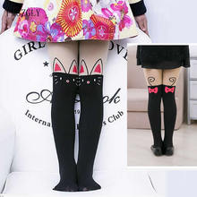 Girls Tights Stocking Pantyhose Cartoon-Designs Velvet Dancing Year Patchwork 2-12