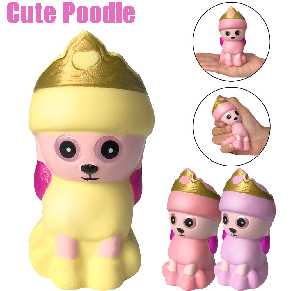 Squishies Adorable Poodle Squishies Slow Rising Scented Squeeze Toy Stress Relief Original Package Funny For Kid Gift Toy L0115