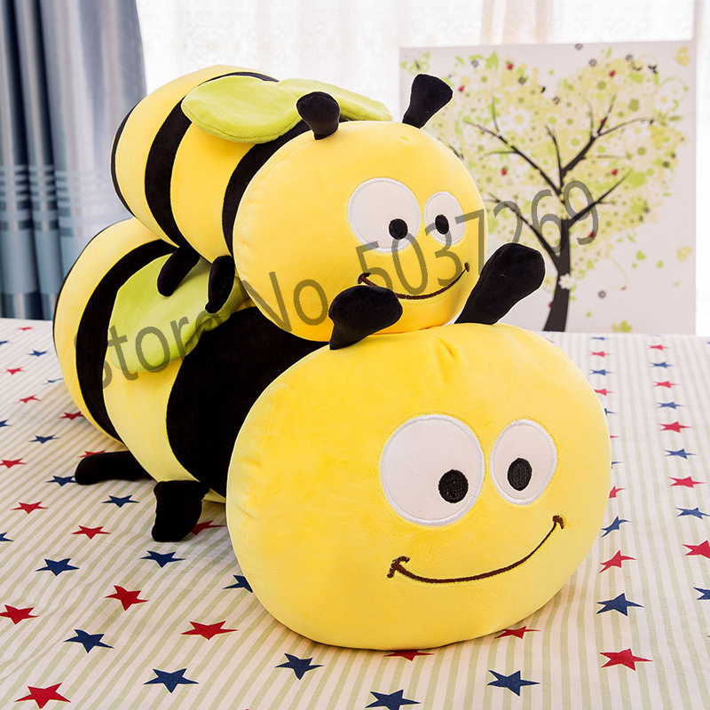 New Bee Plush Toy Pillow Child Birthday Gift Sleeping Soft Sofa Decoration 45cm
