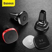 Baseus metal titular do telefone do carro para o iphone 11 pro sumsung s9 xiaomi suporte de telefone magnético ar vent montar suporte do telefone móvel