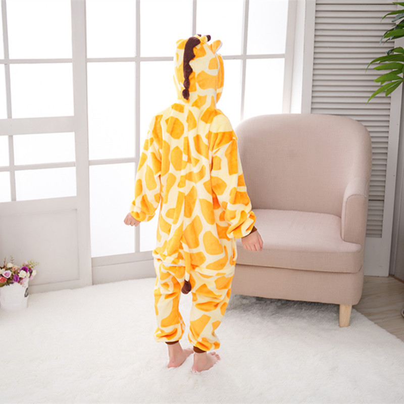 Animal One-piece Pajama Cartoon Tracksuit Parent And Child Autumn & Winter Men And Women Baby Children Giraffe Toilet Edition