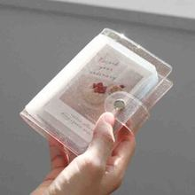 Photo-Album Card-Holder Glitter Mini-Card Jelly-Color Transparent for Instax