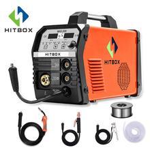 HITBOX Mig сварочный аппарат MIG200 MMA TIG MIG функции сварочные аппараты 220 В с аксессуарами сварочный Mig mag
