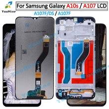 Samsung Galaxy A10s A107 A107F A107F/DS dokunmatik lcd ekran ekran Samsung için dijitalleştirici montajı A10S lcd yerine