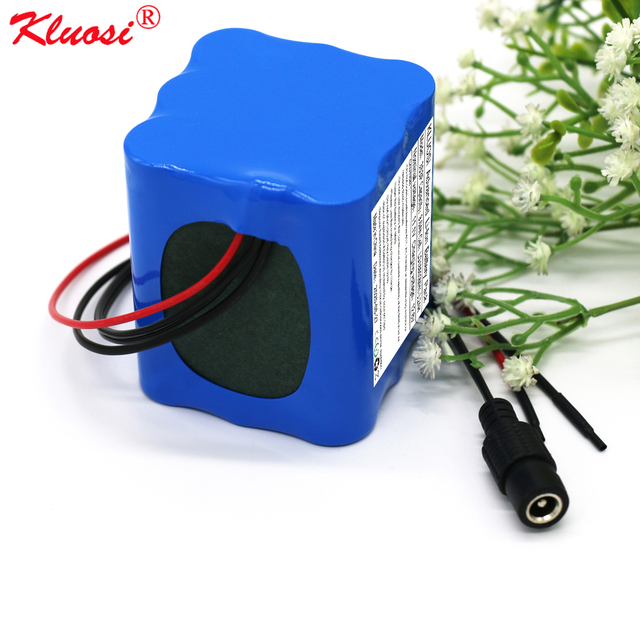 KLUOSI 3S3P 11.1V/12.6V 9.6Ah for LG18650MH1 12V Battery Pack with 20A Balanced BMS LED Lamp Electric Brick Electric Toy Car Etc