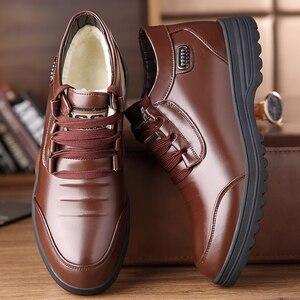 Image 3 - Misalwa inverno botas masculinas couro do plutônio quente isolamento de pele botas de tornozelo clássico ao ar livre casual básico botas de homem mais velho