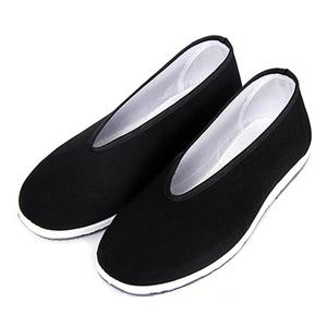 Tai Chi Shoes Retro Black Martial Arts Kung Fu Shoes Chinese Traditional Cloth Shoes Wushu Sports Fitness Training Sneaker