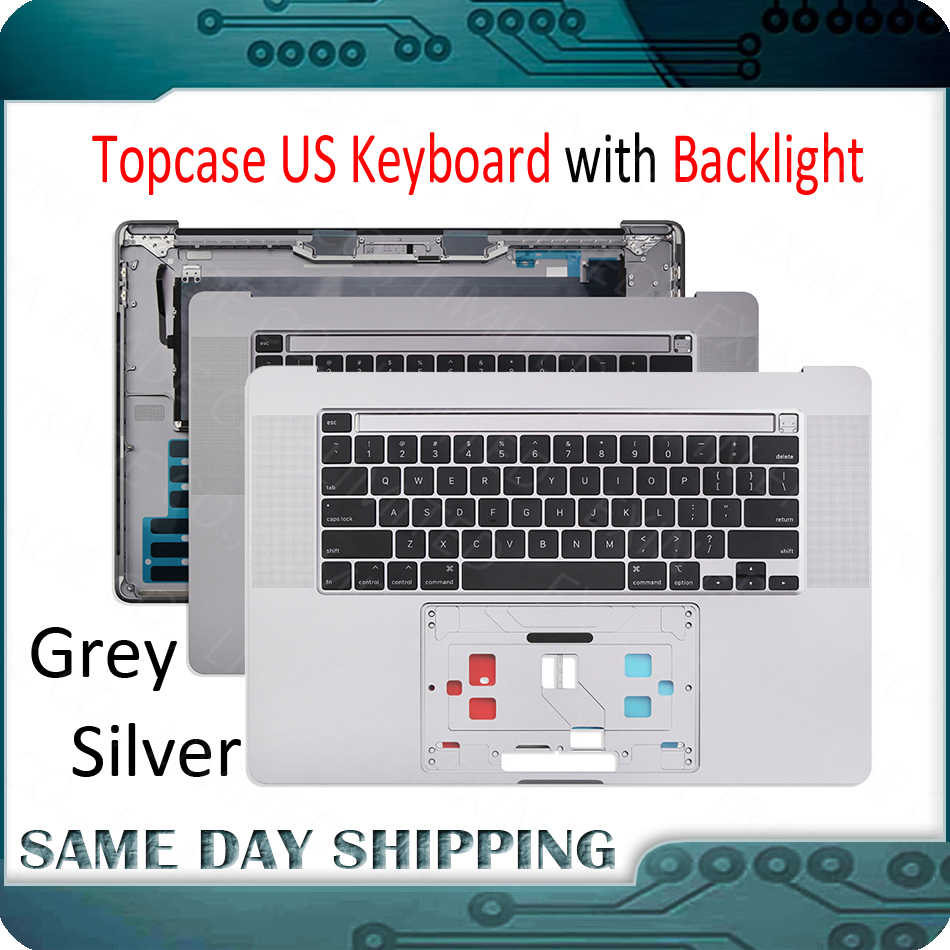 Almencla Upper Case Palmrest Cover C Shell French Layout Keyboard for Computer//Desktop//PC//Laptop MacBook Pro Retina A1707 for 2016 2017 Year Silver