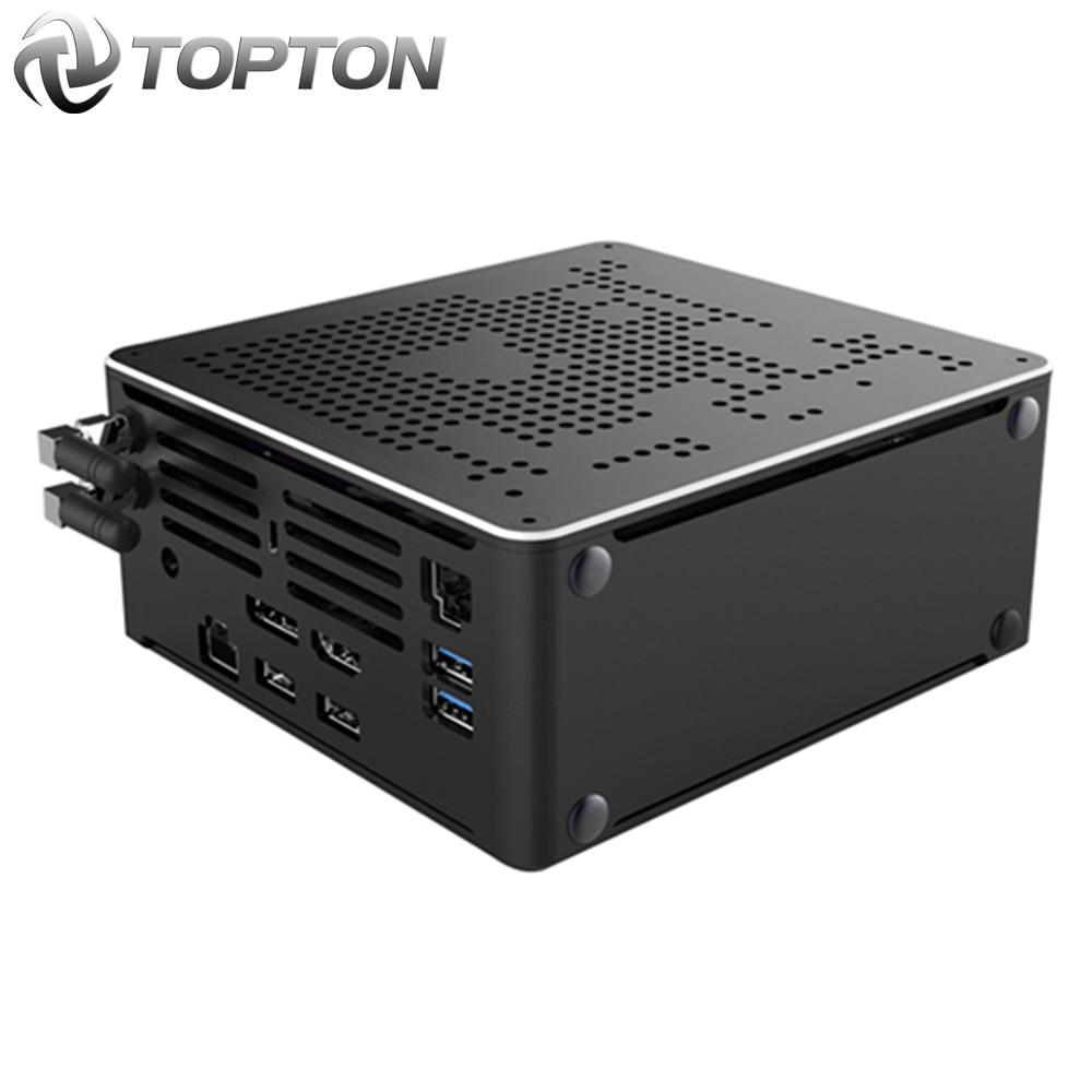 Intel i7 10750H i9 Juego Mini PC Windows 10 2 Intel LAN computadora de escritorio PC sistema Unidad 2 * DDR4 2 * M.2 AC WiFi 4K HTPC HDMI DP
