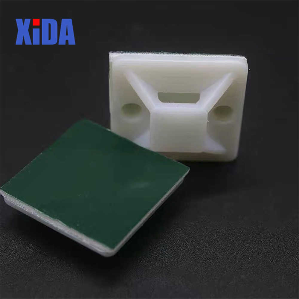 Bộ 50 20X20 Nhựa Nylon Đen Trắng Keo Tự Dính-Trên Ốp Cho Dây Cáp/Định Tuyến khung Dệt Dây Và Cáp Đế Kẹp Kẹp