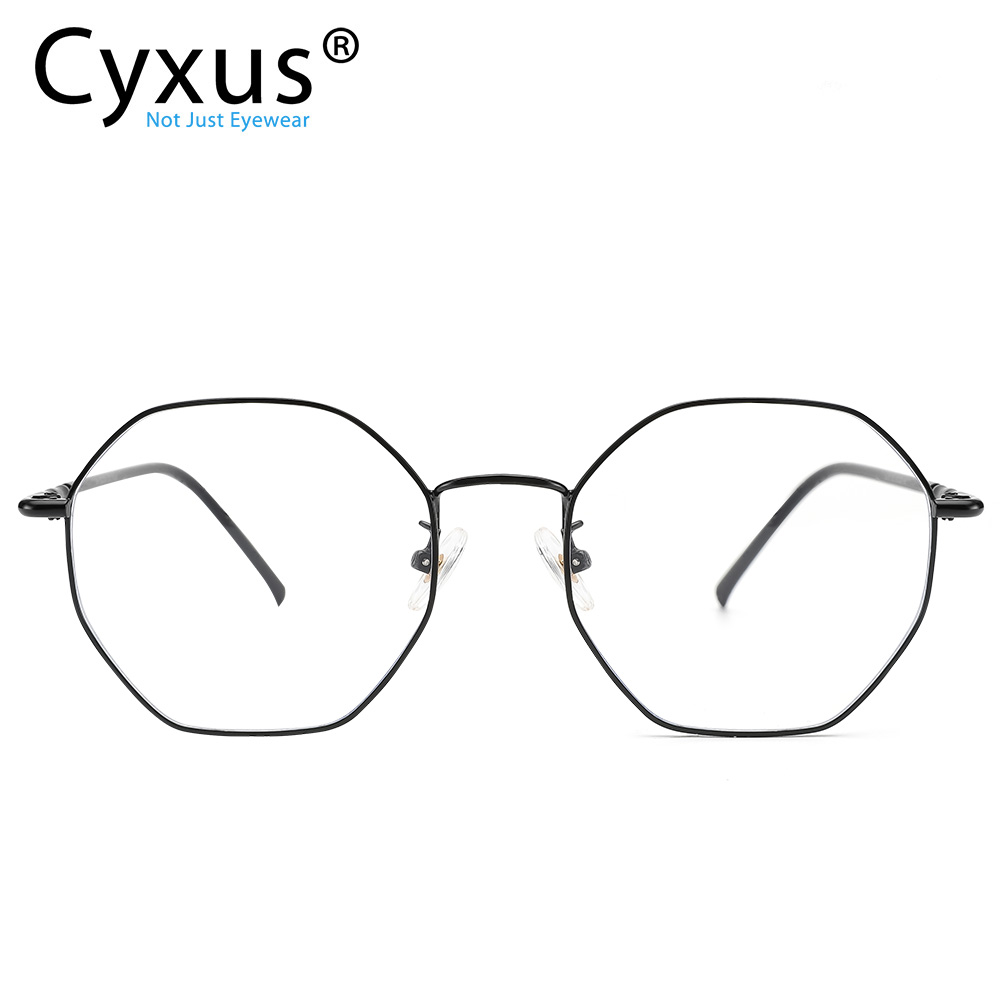 Cyxus Anti Blue Light Computer Glasses For Blocking UV Eye Strain Reading Eyewear Stainless Steel Frame For Unisex  8008