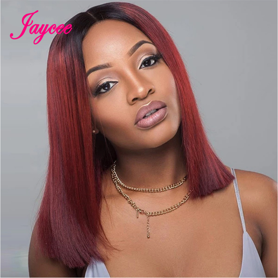 4x4 Straight Colored Burgundy Bob Lace Front Wigs Wine Red Human Hair Wig Burgundy 1b99j Lace Front Wig Ombre Human Hair Wig
