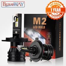 BraveWay H4 LED araba ampuller H4 H7 H8 H3 H11 H1 9005 9006 HB3 HB4 için LED far araba farı Turbo ampuller için otomatik 12V CANBUS