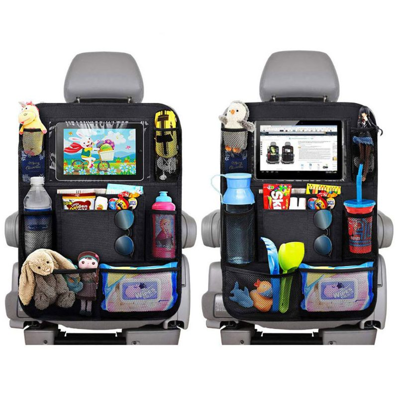 Waterproof Vehicle Storage Sundries Bag Car Seat Back Protector Cover For Children Baby Kick Mat Protect Bag K1KC