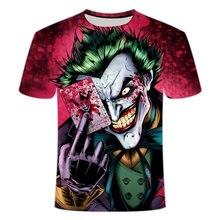 Мужская футболка с 3d принтом клоуна лето 2020