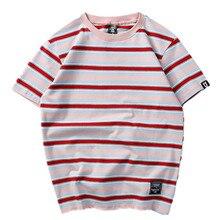2020 nova marca de moda masculina verão listrado t camisas dos homens estilo rua casual