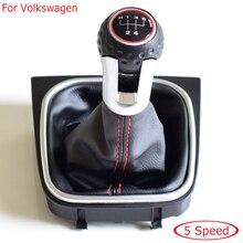 Ручка переключения передач в комплекте для VW Golf 6 MK6 GTI GTD R20 2009-2013 5 6 скоростей ручная автомобильная ручка рычаг переключения передач рукоятка...