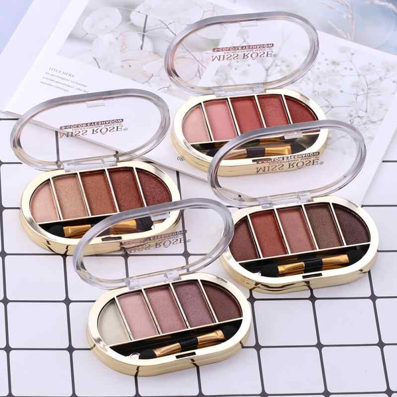 5 Warna Matte Mutiara Tahan Air Eye Shadow Pigmen Eye Shadow Palet Makeup Shimmer Glitter Eyeshadow Mata TSLM1