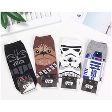 Star Wars Wookiees cosplay socks Jedi Knight storm troops funny personalized printed mens spring black cotton