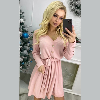 Women Casual Sashes Mini Dress Office Ladies V-neck Long Sleeve Buttons Dress  2020 Fashion Autumn Solid Elegant A Line Dress women casual sashes mini dress office ladies v neck long sleeve buttons dress 2020 fashion autumn solid elegant a line dress