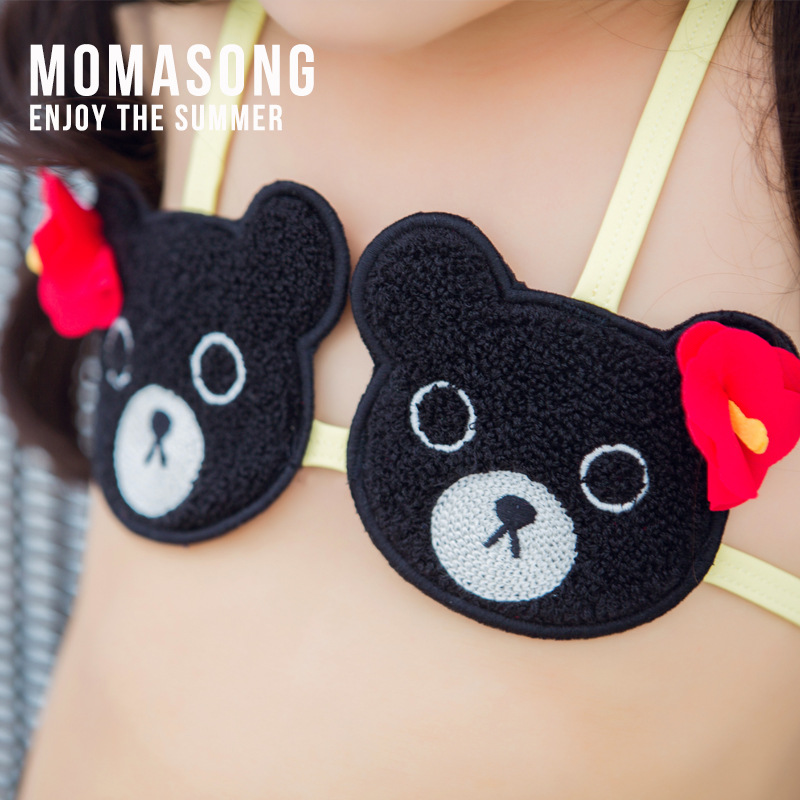 Momasong New Style Children Bear Split Type Bikini GIRL'S Swimsuit Cute KID'S Swimwear Hot Springs Bathing Suit