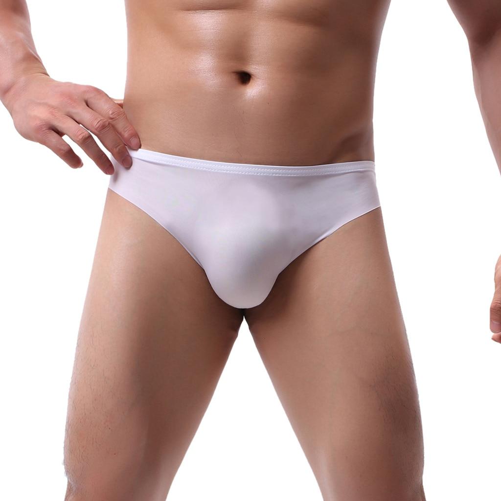 Men's Underwear Sexy Briefs Underpants Pure Ice-silk Seamless Panties Underwear Breathable Underpants Gay Men Underwear Briefs