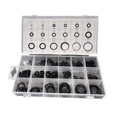 225 pces borracha o anel o-ring arruela selos watertighty sortimento tamanho diferente com jogo placticbox conjunto