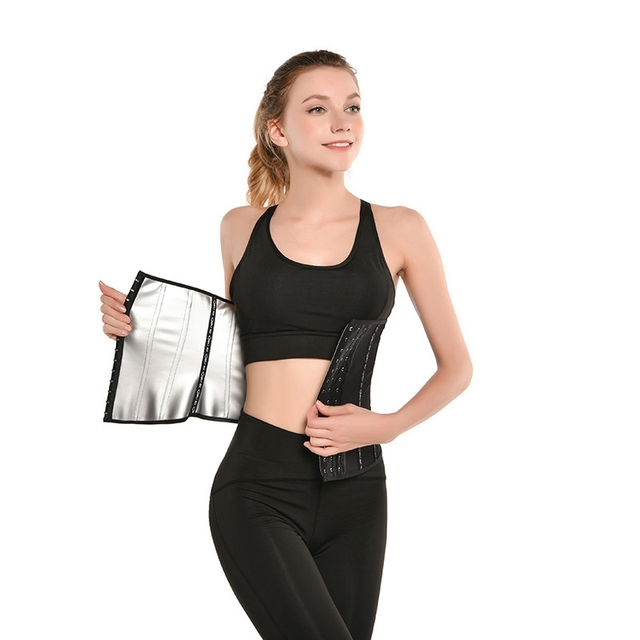 Hot Sports Belt Yoga Slimming Shaping Belt Ladies Fitness Shapewear Sweat Nano Tummy Belt 3