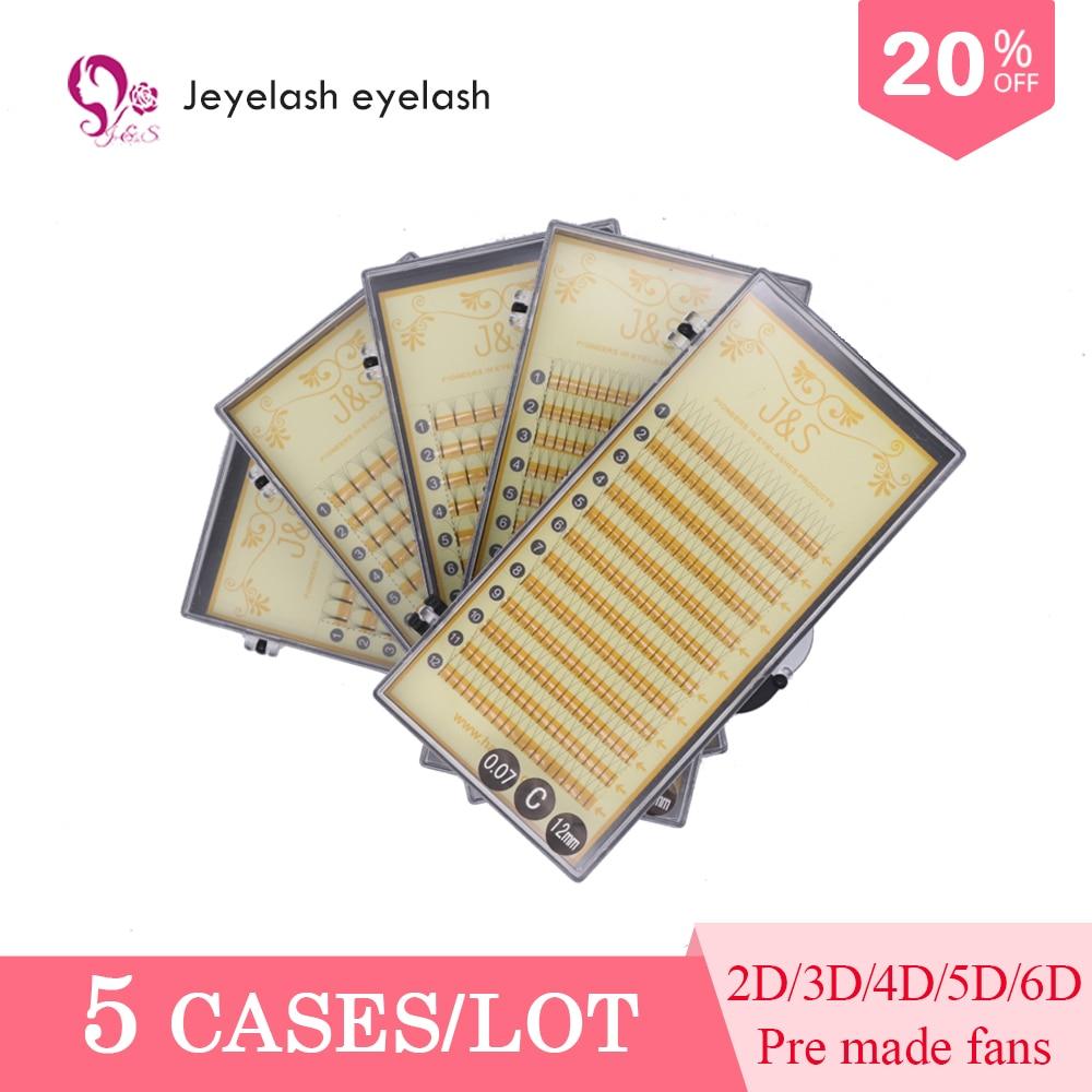 J & S LASH 0.07mm  Premade Volume Fans Eyelashes Knot Free Heat Bonded False Eyelash Extensions